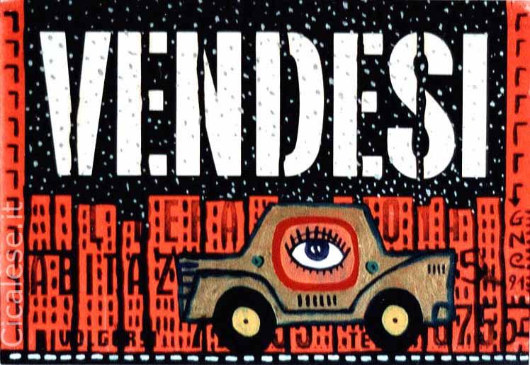 VENDESI (1991) olio su cartello vendesi (21,5x31,5)