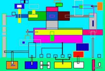 CIRCUIT-4 (1996) digital paint
