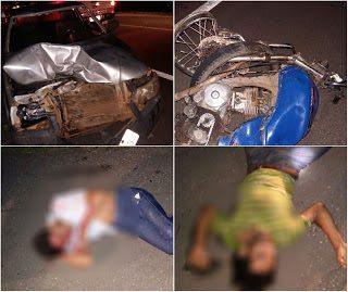 Colisão de trânsito no povoado Santa Cruz, em Nova Olinda do Maranhão teve uma vítima fatal