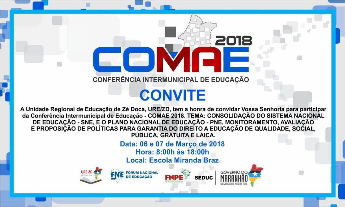 Conferência intermunicipal da URE Zé Doca inicia nesta terça feira dia 06