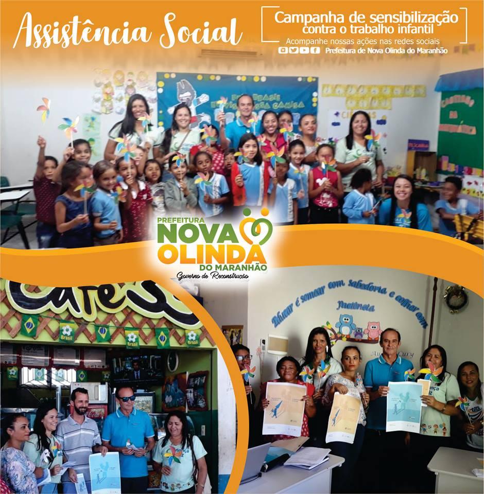Prefeitura de Nova Olinda do Maranhão promove ato contra o trabalho infantil