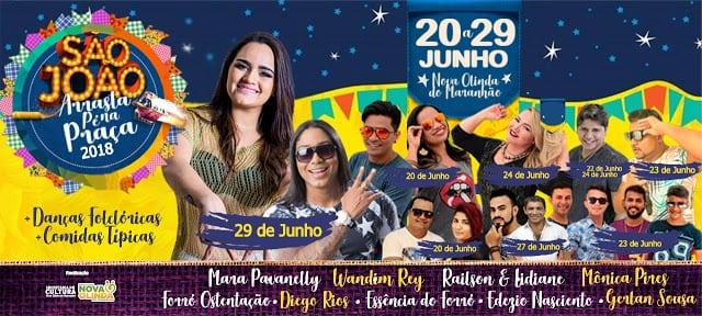 São João 2018: Prefeitura de Nova Olinda do Maranhão divulga programação oficial