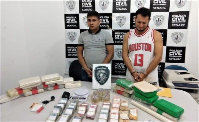 Homens são presos com drogas avaliadas em R$500 mil