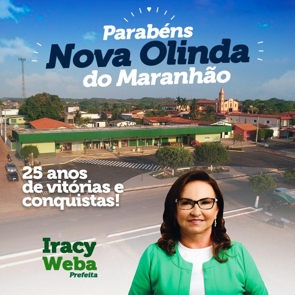 Nova Olinda do Maranhão comemora 25 anos de emancipação neste domingo (10)