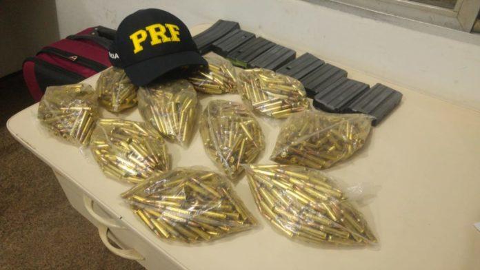PRF identifica e apreende carregadores e munições em Santa Inês