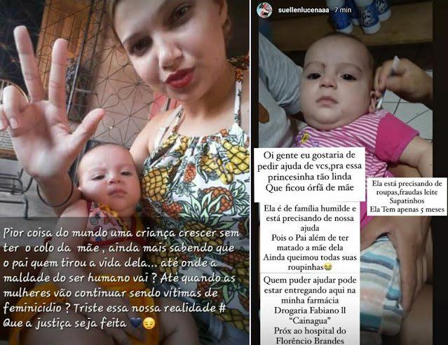 Moradores iniciam campanha de doação para ajudar bebê que teve a mãe morta