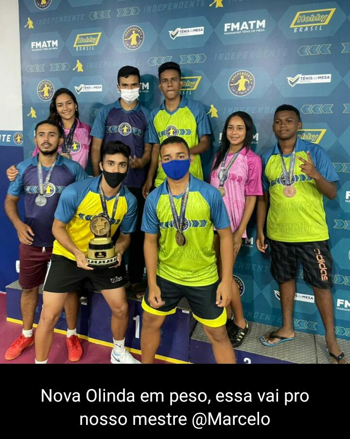 Atletas de Tênis de Mesa de Nova Olinda do MA conquistam títulos no TMB em São Luís