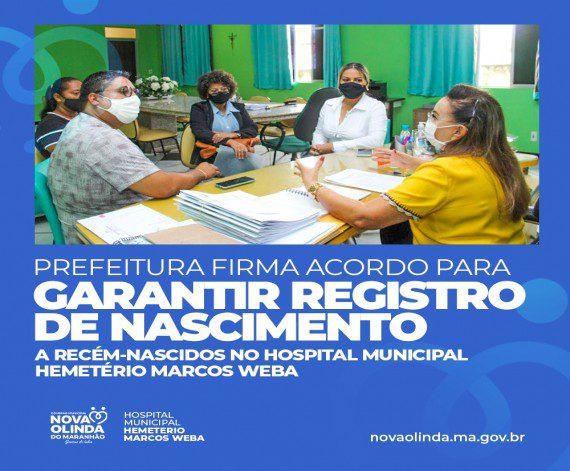 Unidade Interligada do Registro Civil de Nascimento será aberta nesta quinta-feira (22) no Hospital Hemeterio Marcos Weba