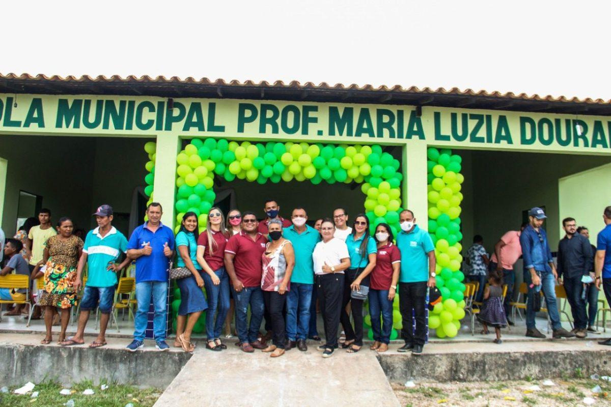 Escola Municipal Profª Maria Luzia Dourado é inaugurada em Nova Olinda do MA.