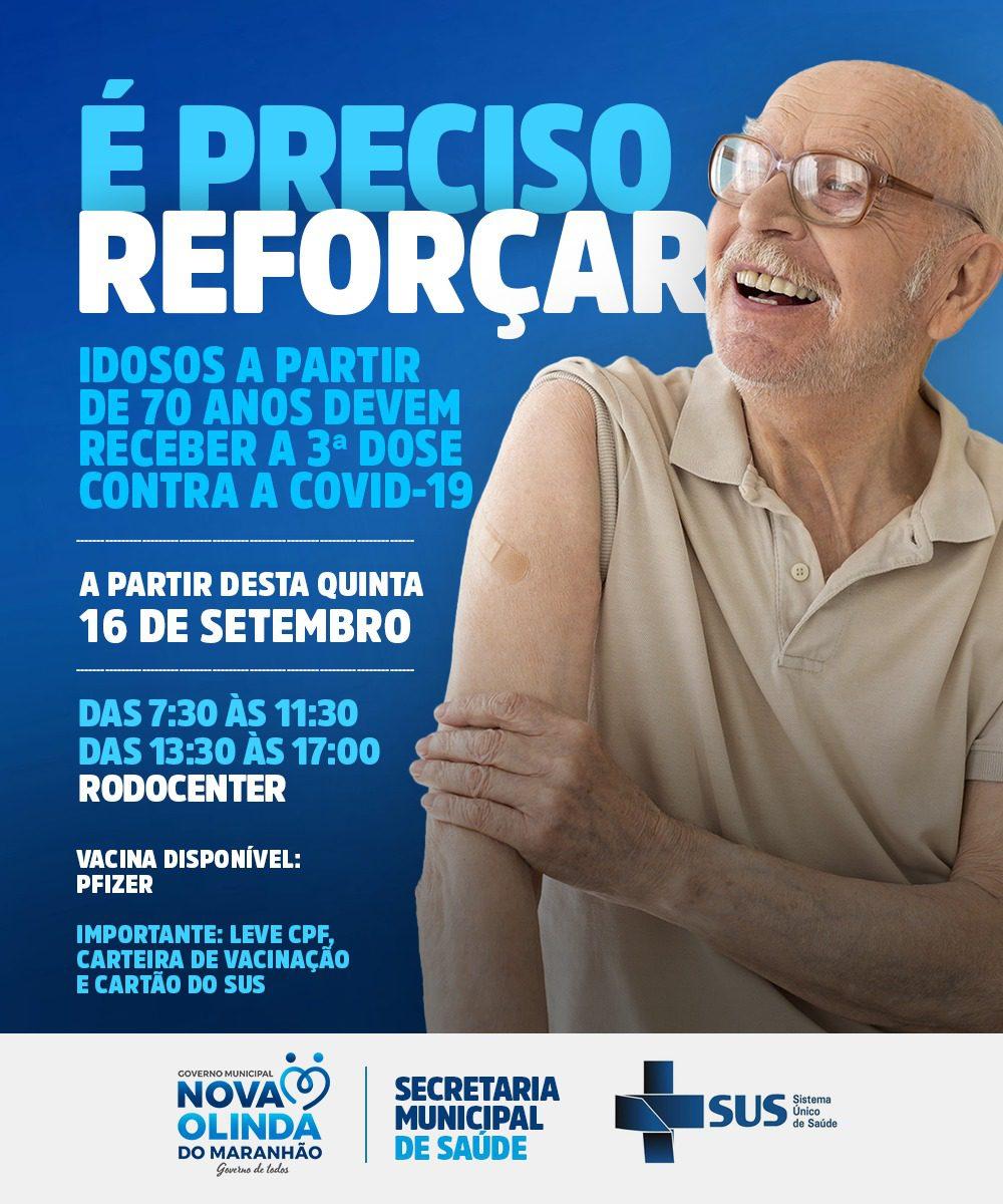 Nova Olinda do MA inicia aplicação de dose reforço contra COVID 19 nesta quinta-feira (16)