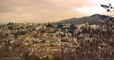 Twilight in Albayzin, Granada and Sacromonte