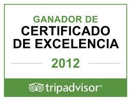 Certificado de Excelencia Tripadvisor 2012