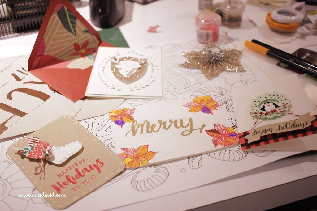Holiday Card Making Craft Social at Paper Source! - CiCi David