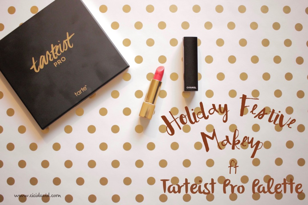 Holiday Festive Makeup ft. Tarte's Tarteist Pro Palette Tutorial