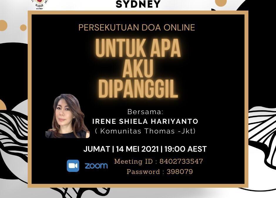PDKK-HKY Sydney: Pelayananan Online Hari Jumat, 14 Mei 2021