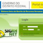 Portal do Servidor DF: Tirar contracheque no SIGRHNET