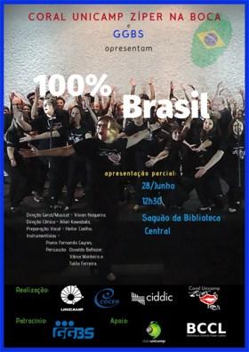 Cartaz montagem 100 por cento Brasil 2019