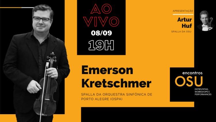 Flyer da entrevista spalla Emerson Kretschmer (OSPA)
