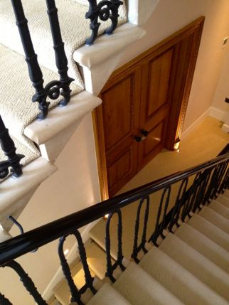 French polished Mahogany handrail Knightsbridge
