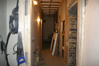 Hallway before refurbishment in Chelsea
