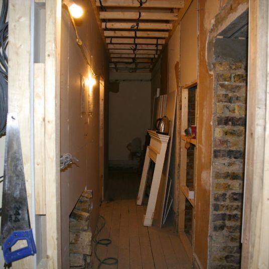 Hallway before refurbishment in Chelsea