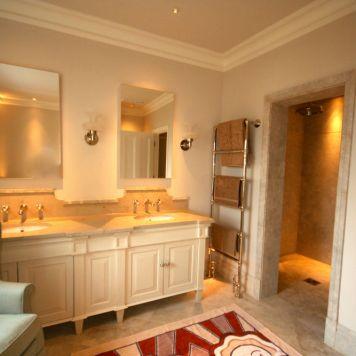 Hand-made bathroom vanity unit in Knightsbridge
