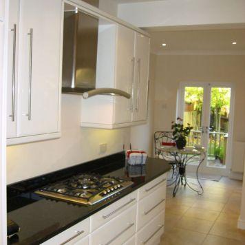 White High Gloss Kitchen in Wimbledon