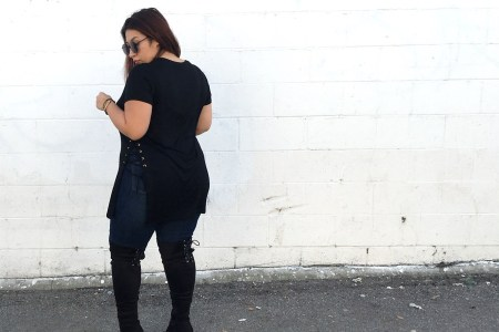 lace-up top, lace-up detail, lace-up tops, outfit ideas, casual outfits, look, edgy