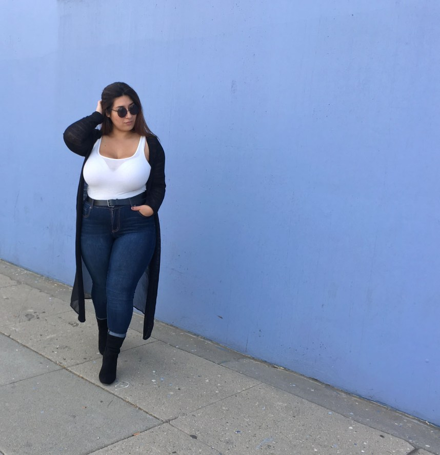 cardigan, spring, spring outfit, plus size, casual, jeans, tank top, plus size style, fashion