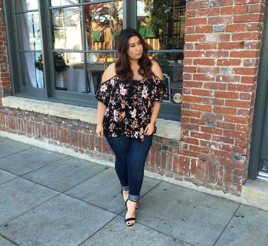 spring outfits, spring, floral blouses, floral print, plus size, plus size style, fashion blogger, plus size blogger