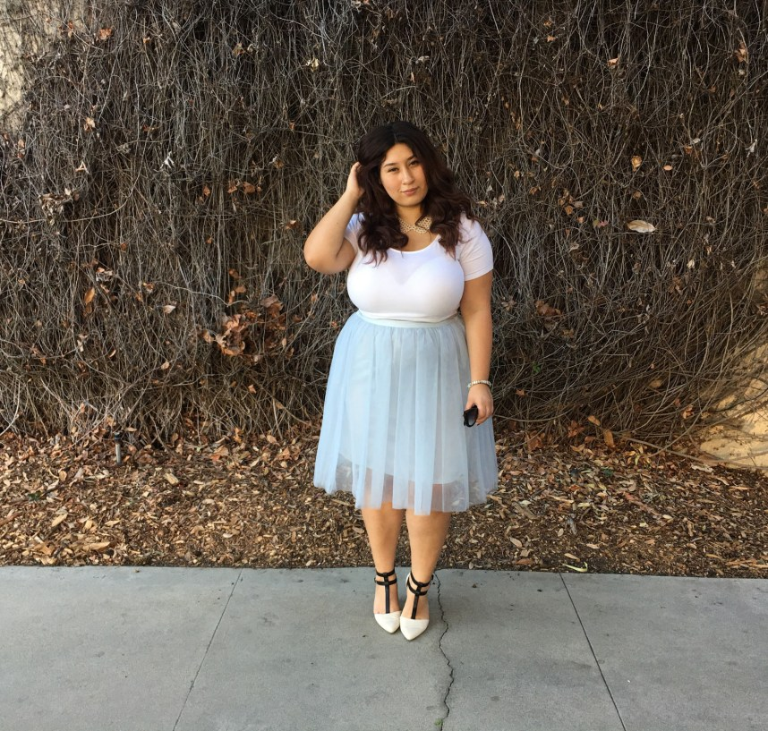 tutu, tulle skirt, plus size, fashion, style, outfit