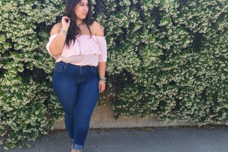 off the shoulder, pink, tops, spring, jeans, plus size, lace up, botties