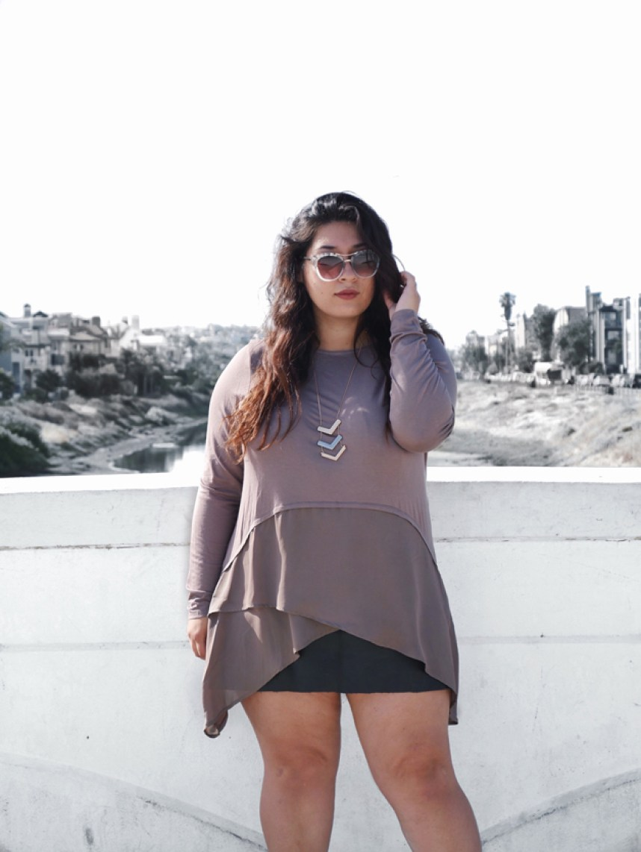 stitch fix, neutrals, leather skirt