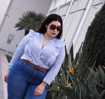 ruffles, stripes, jeans, pinstripes