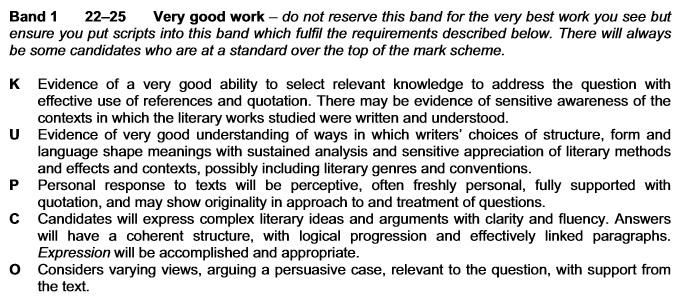 Opinion Mark Scheme