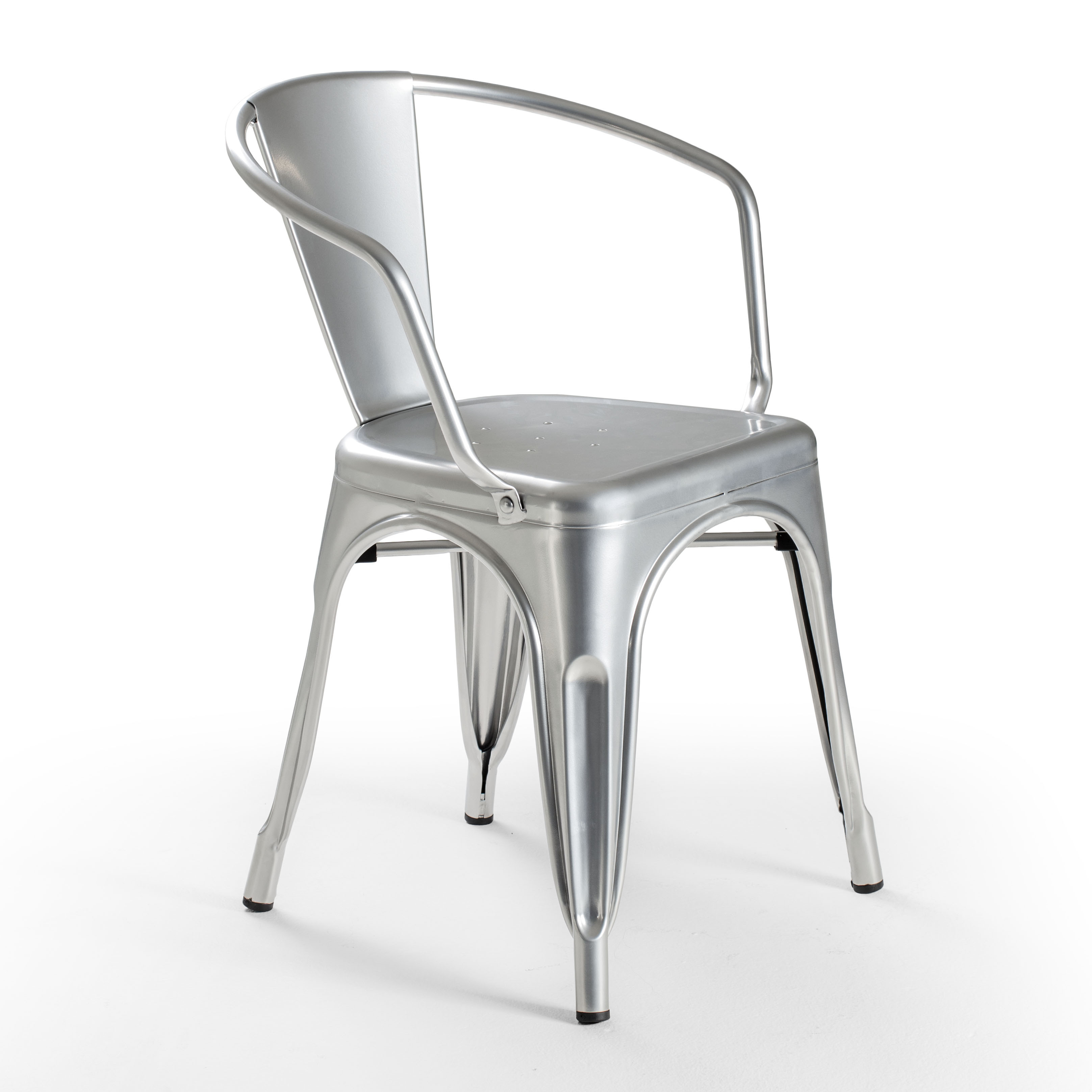 Fritz Metal Dining Chair Bullet Silver Dining Chairs