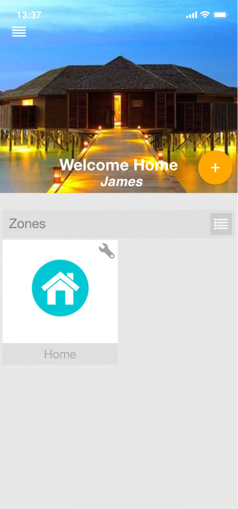 zone on home screen
