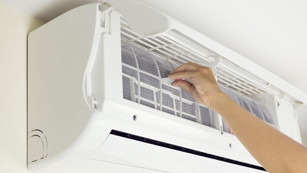 Soluções de problemas de ar condicionado como filtro AC sujo.