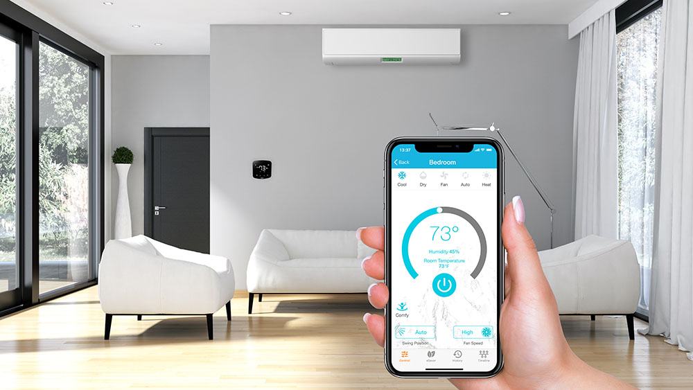 ideal room temperature with a smart AC controller