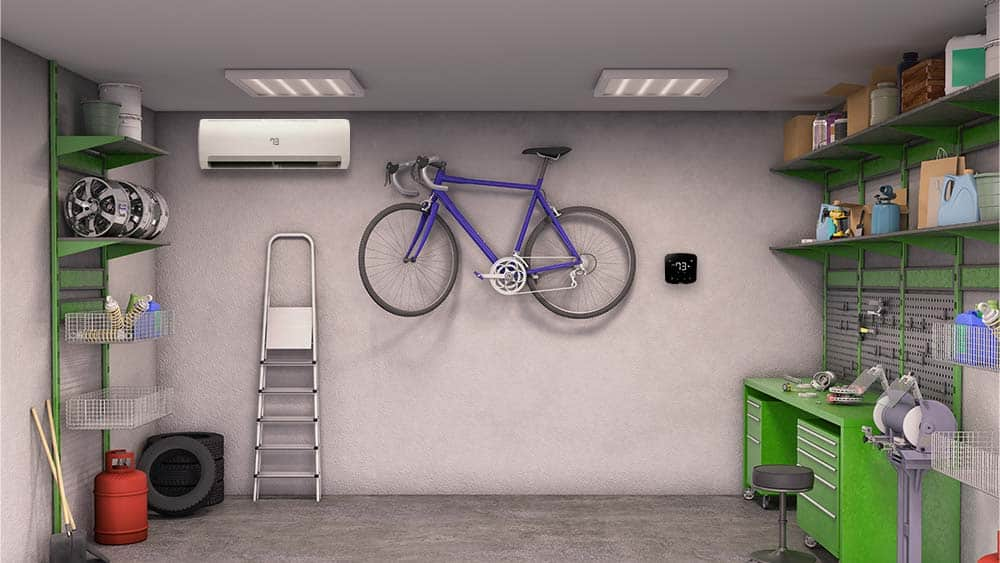 Multiple options to cool a garage presented by Cielo.