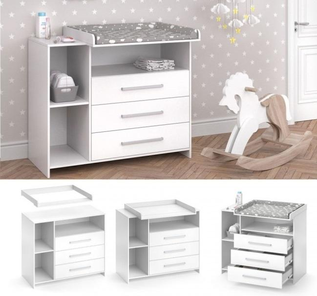 commode table langer blanche