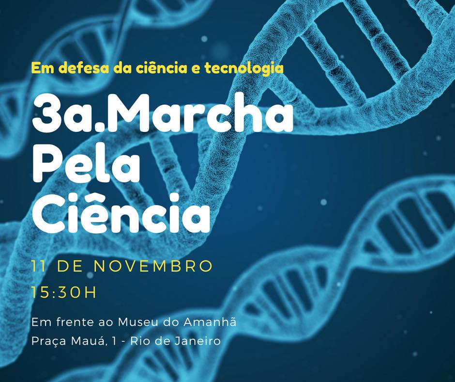 SBPC convoca a terceira edição da Marcha Pela Ciência no Rio de Janeiro
