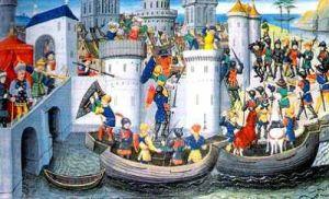 La toma de Constantinopla por los cruzados. Imperio