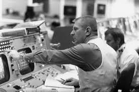 Gene Kranz en el centro de control de Houston