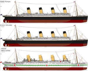 Olympic,Titanic y Britannic.