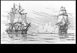 El HMS Leopard ataca al USS Chesapeake