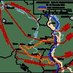 Mapa de la ofensiva alemana en las Ardenas
