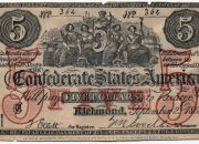 Uno de los billetes de Upham. Agrandándolo, se puede leer la advertencia en el margen inferior.