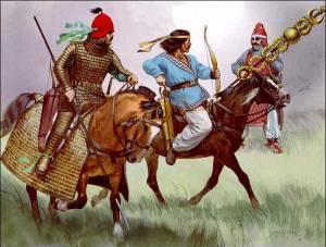 Los guerreros partos eran famosos por poder cabalgar y disparar flechas al mismo tiempo.