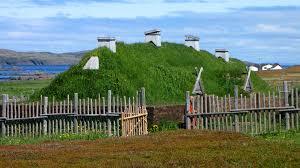 Edificio en Vinland, vikingos